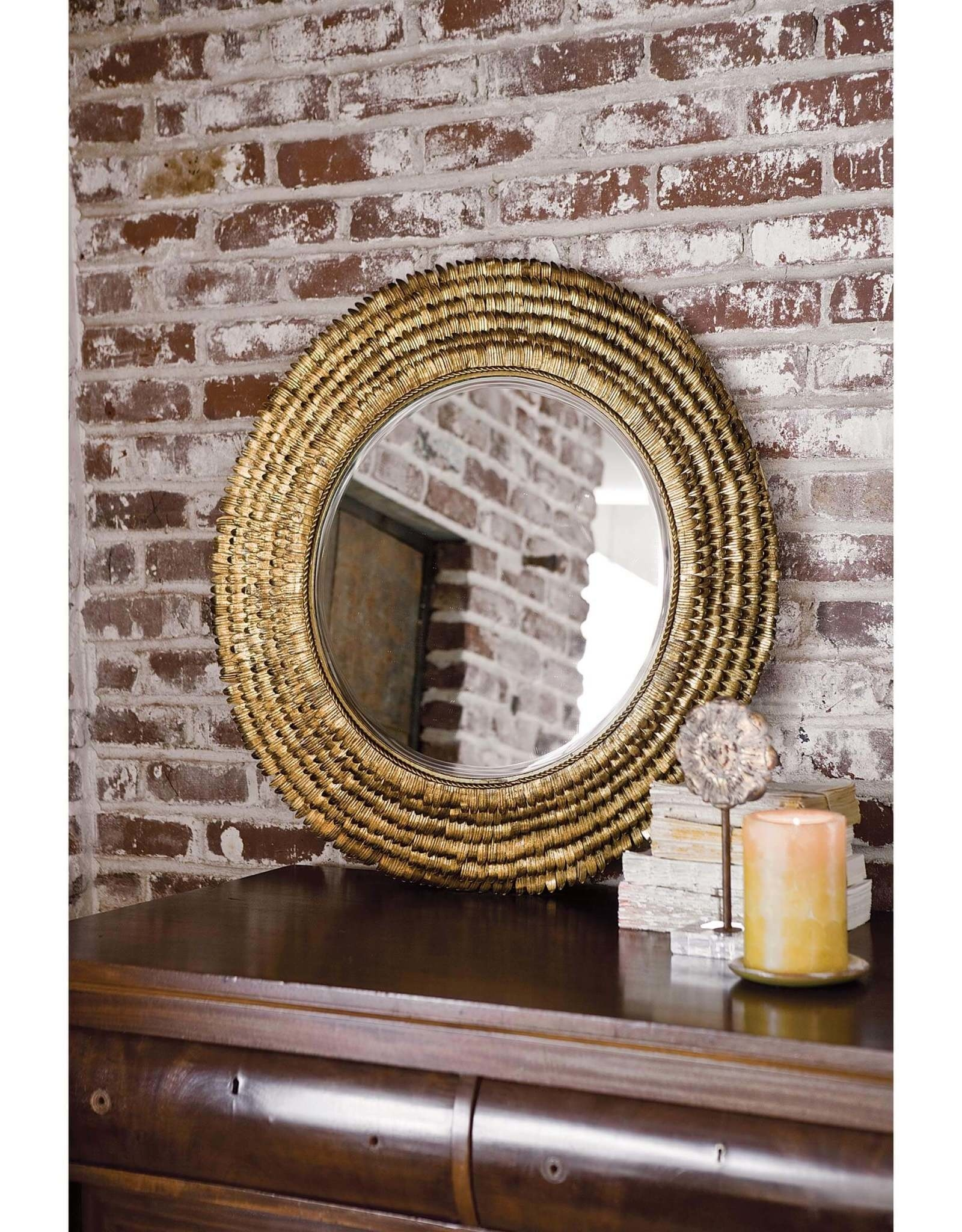 Regina Andrew Design Petal Mirror Small (Gold)
