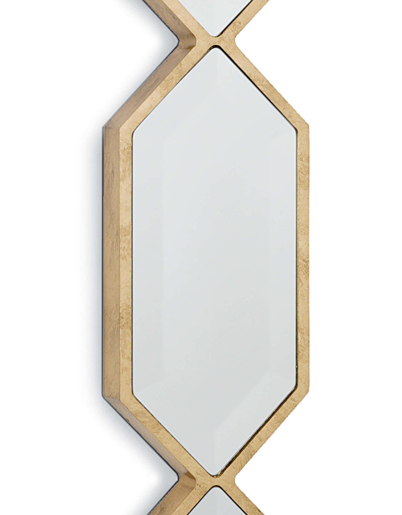 Regina Andrew Design Triple Diamond Wall Panel Mirror (Gold Leaf)