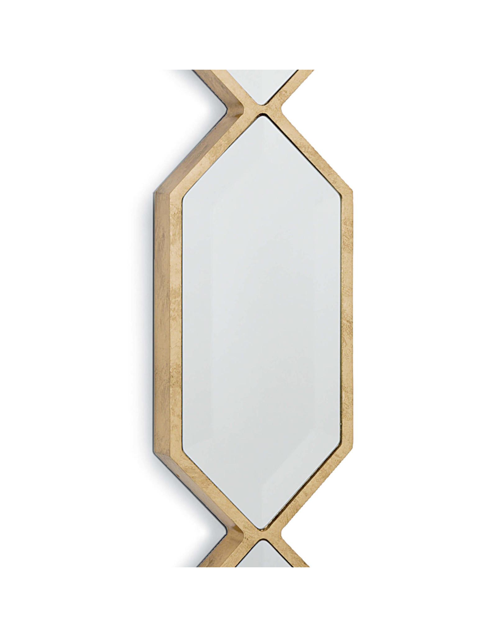 Regina Andrew Design Triple Diamond Wall Panel Mirror Gold Leaf Urbane Home And Lifestyle