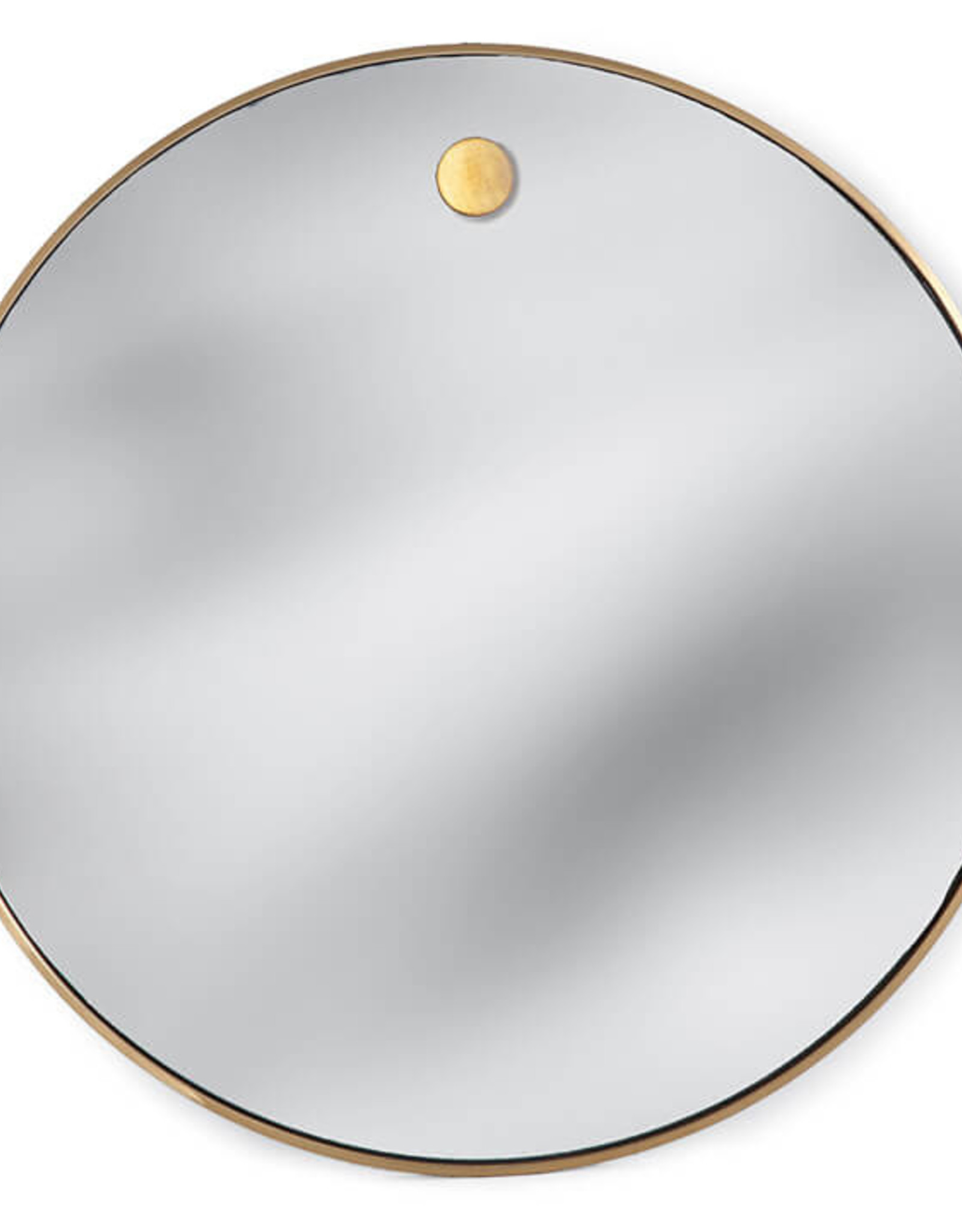Regina Andrew Design Hanging Circular Mirror (Natural Brass)
