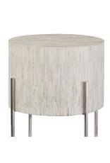 Regina Andrew Design Bone Drum Table (Polished Nickel)