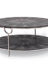 Regina Andrew Design Vogue Shagreen Cocktail Table (Charcoal & Polished Nickel)