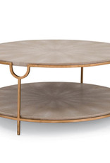 Regina Andrew Design Vogue Shagreen Cocktail Table (Ivory Grey & Brass)
