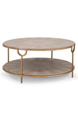 Regina Andrew Design Vogue Shagreen Cocktail Table (Ivory Grey & Brass)
