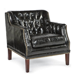 Regina Andrew Design Leather Equestrian Chair