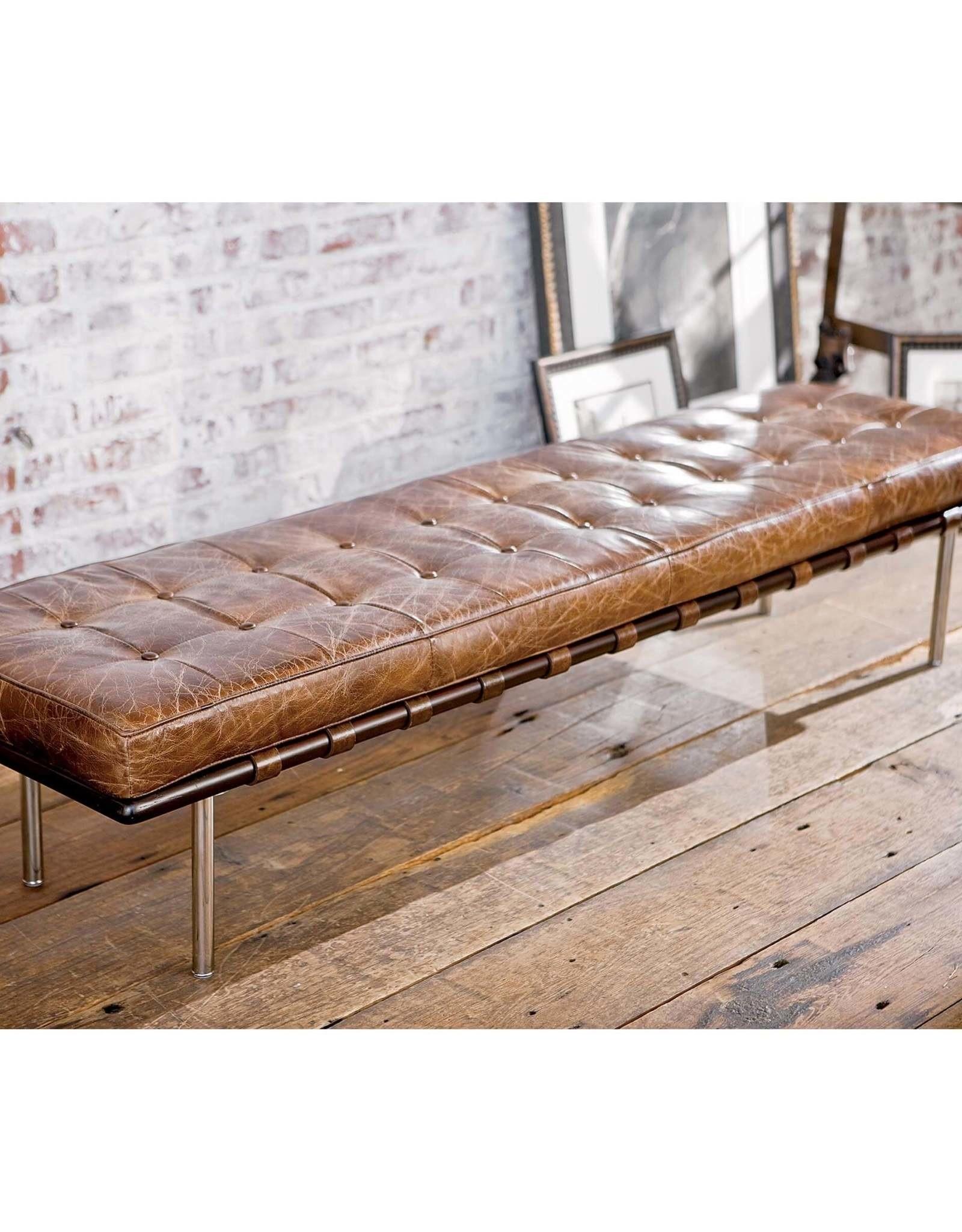 Regina Andrew Design Tufted Gallery Bench (Cigar)
