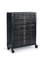 Printmakers Jewelry Cabinet 8 Drawers