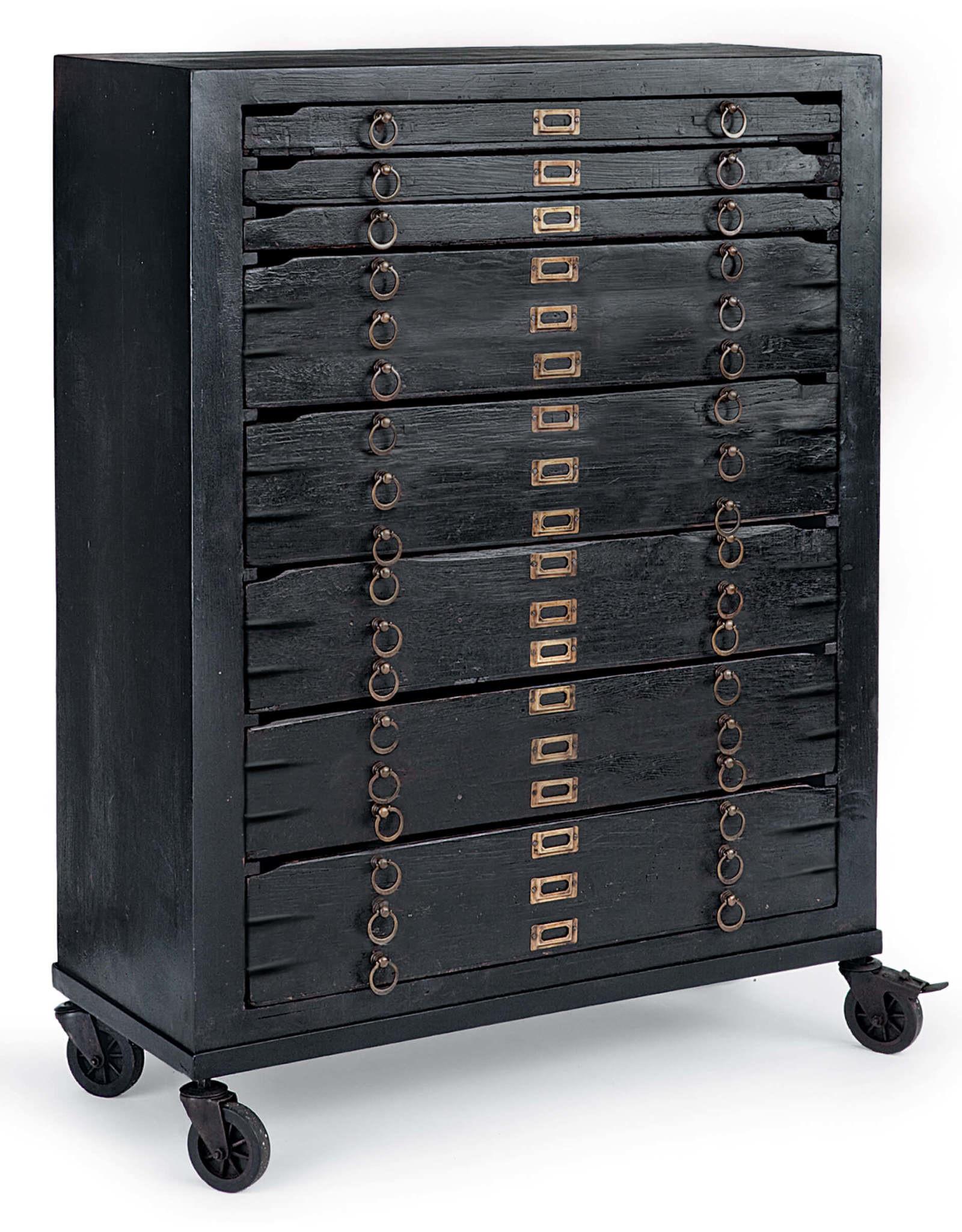 Regina Andrew Design Printmakers Jewelry Cabinet 8 Drawers