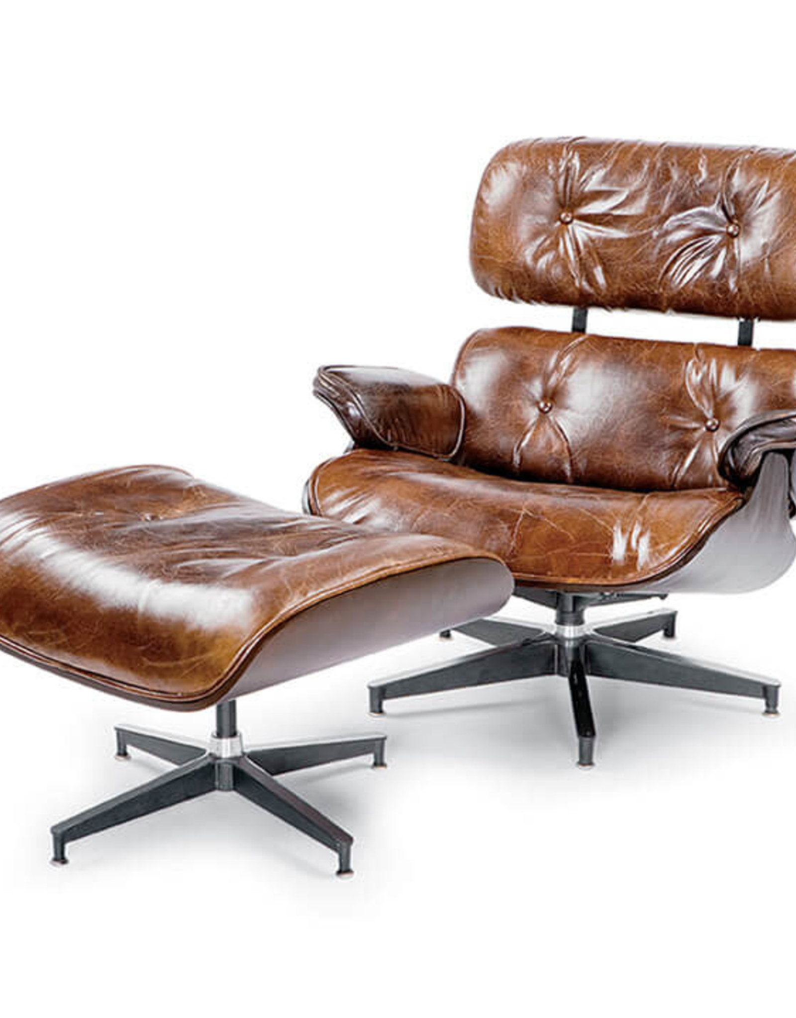 Regina Andrew Design Barca Lounge & Ottoman (Cigar)