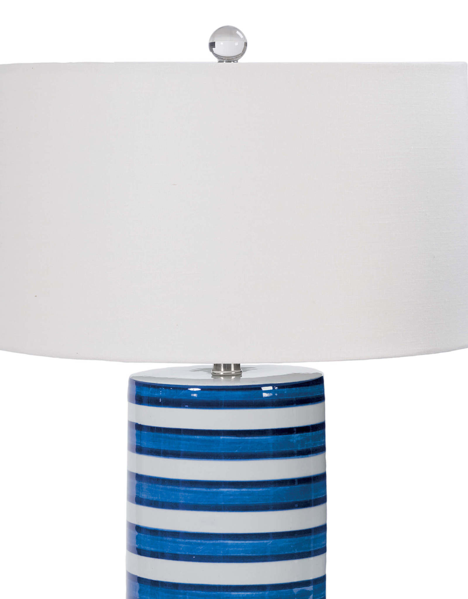 Regina Andrew Design Striped Ceramic Column Table Lamp