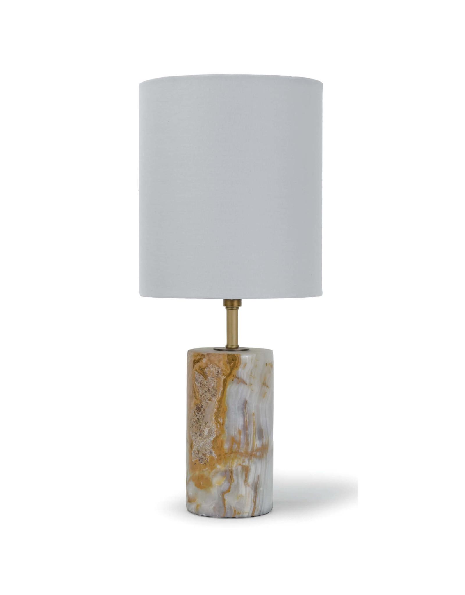 Regina Andrew Design Jade & Brass Mini Cylinder Lamp
