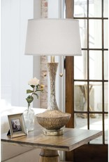 Regina Andrew Design Embossed Vessel Table Lamp (Ambered Silver)