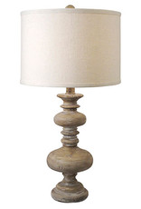 Regina Andrew Design Distressed Turned Spindle Table Lamp