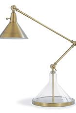 Regina Andrew Design Glass Funnel Beaker Task Lamp (Natural Brass)