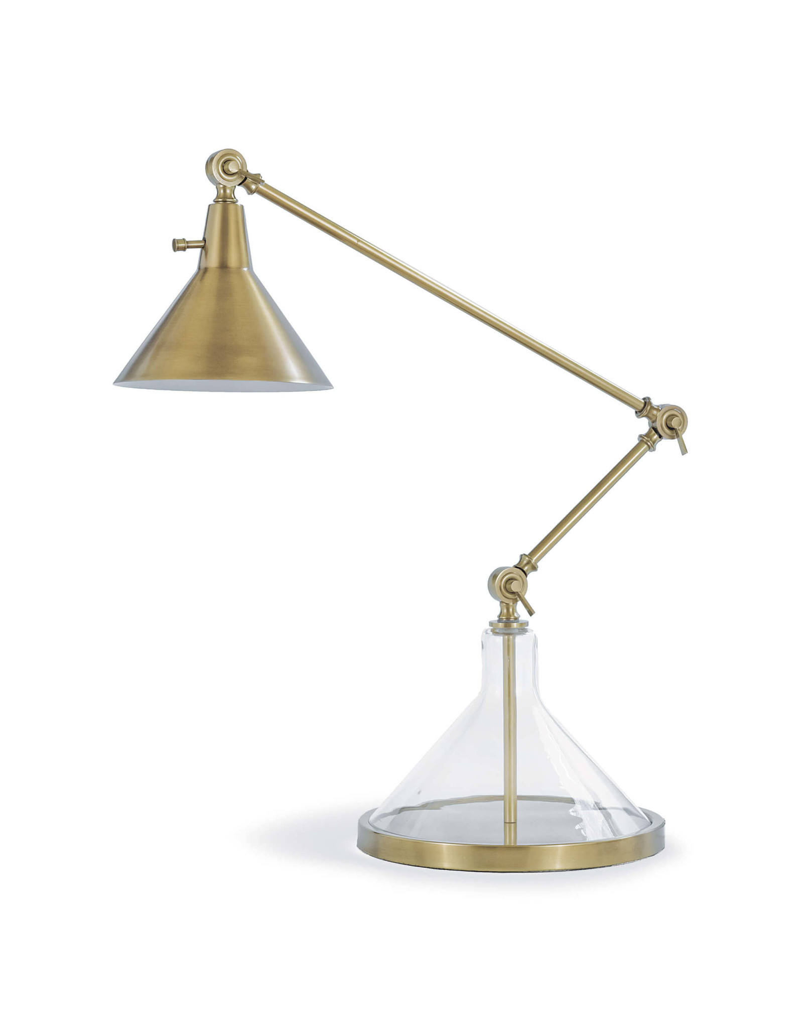 Regina Andrew Design Glass Funnel Beaker Task Lamp (Natural Brass)