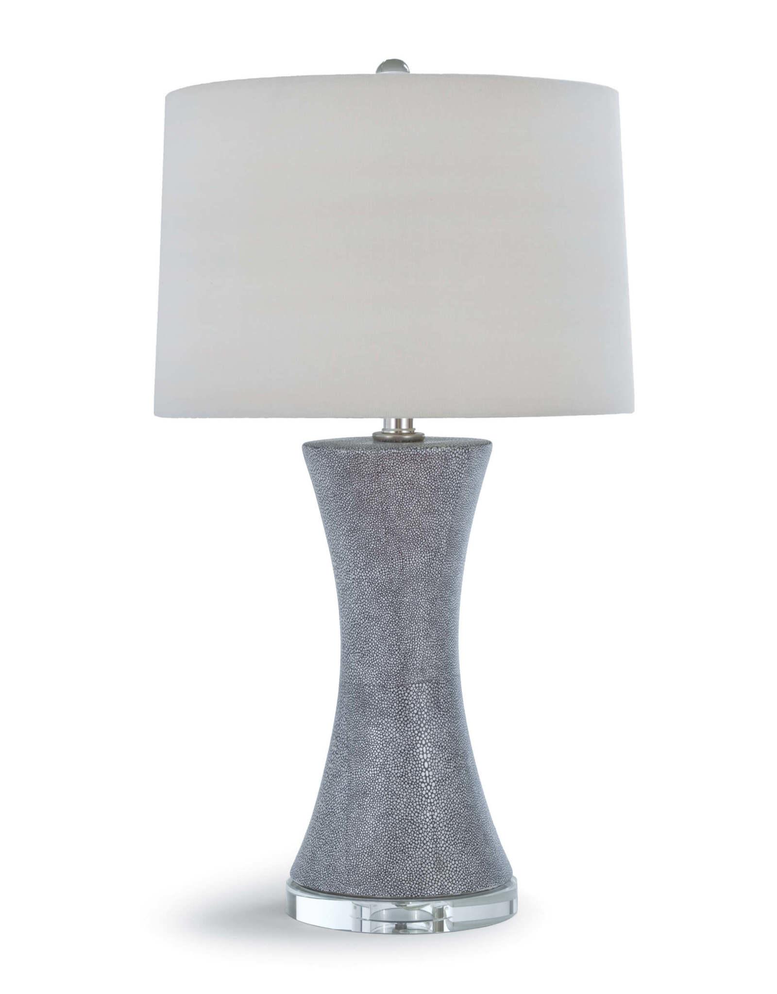 Regina Andrew Design Clara Charcoal Ceramic Shagreen Table Lamp