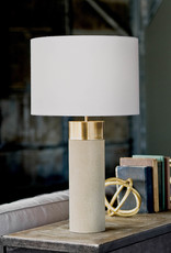 Regina Andrew Design Harlow Ivory Grey Shagreen Cylinder Table Lamp