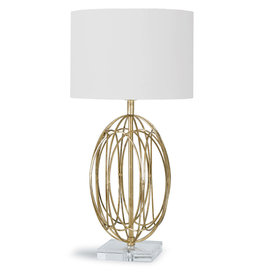 Regina Andrew Design Ellipse Table Lamp (Gold Leaf)