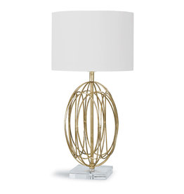 Ellipse Table Lamp (Gold Leaf)