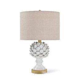 Leafy Artichoke Ceramic Table Lamp (Off White)