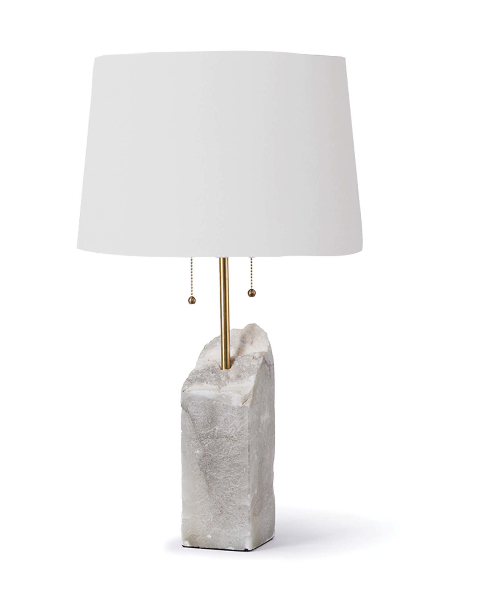 Regina Andrew Design Square Raw Alabaster Table Lamp