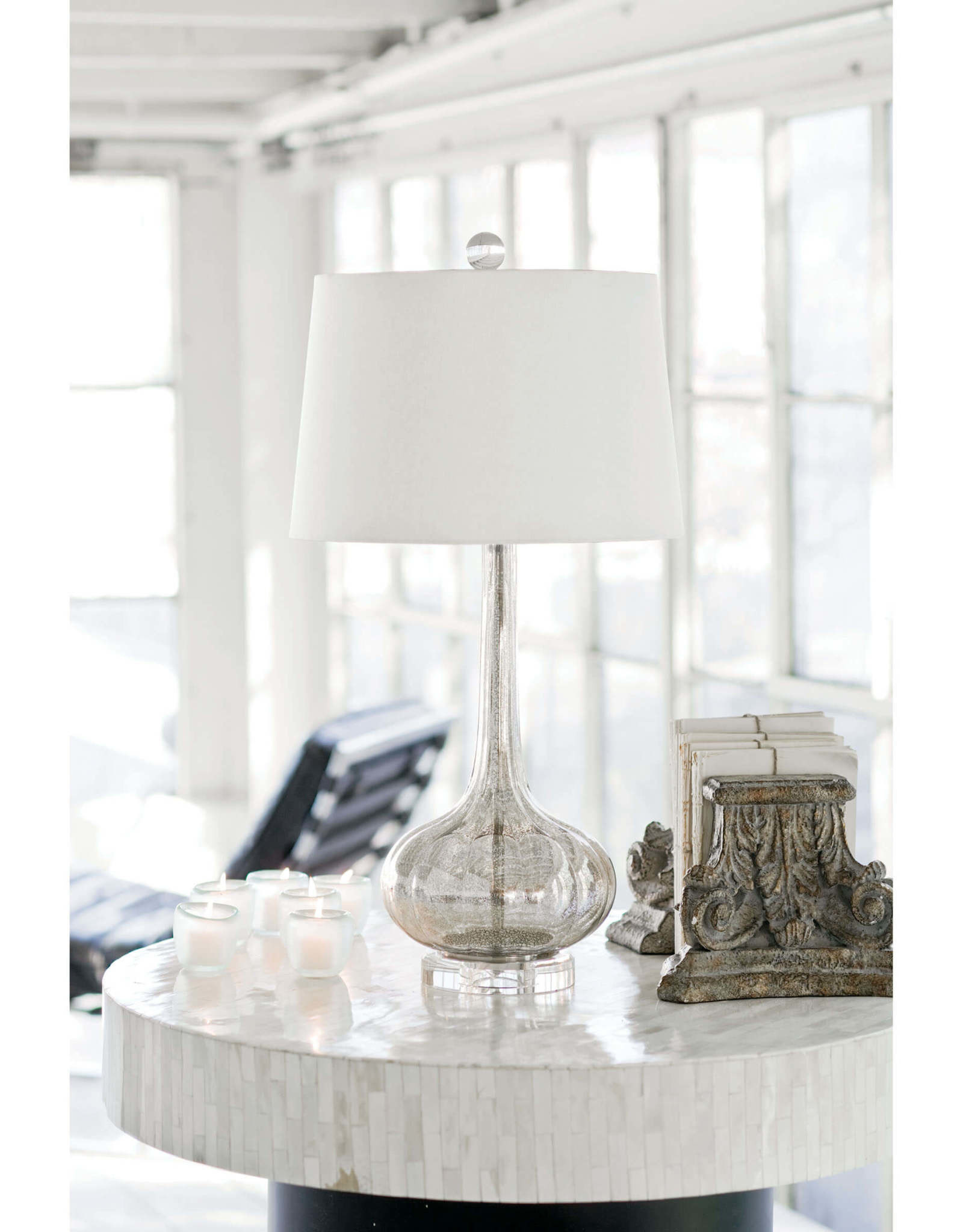 Regina Andrew Design Milano Table Lamp (Antique Mercury)