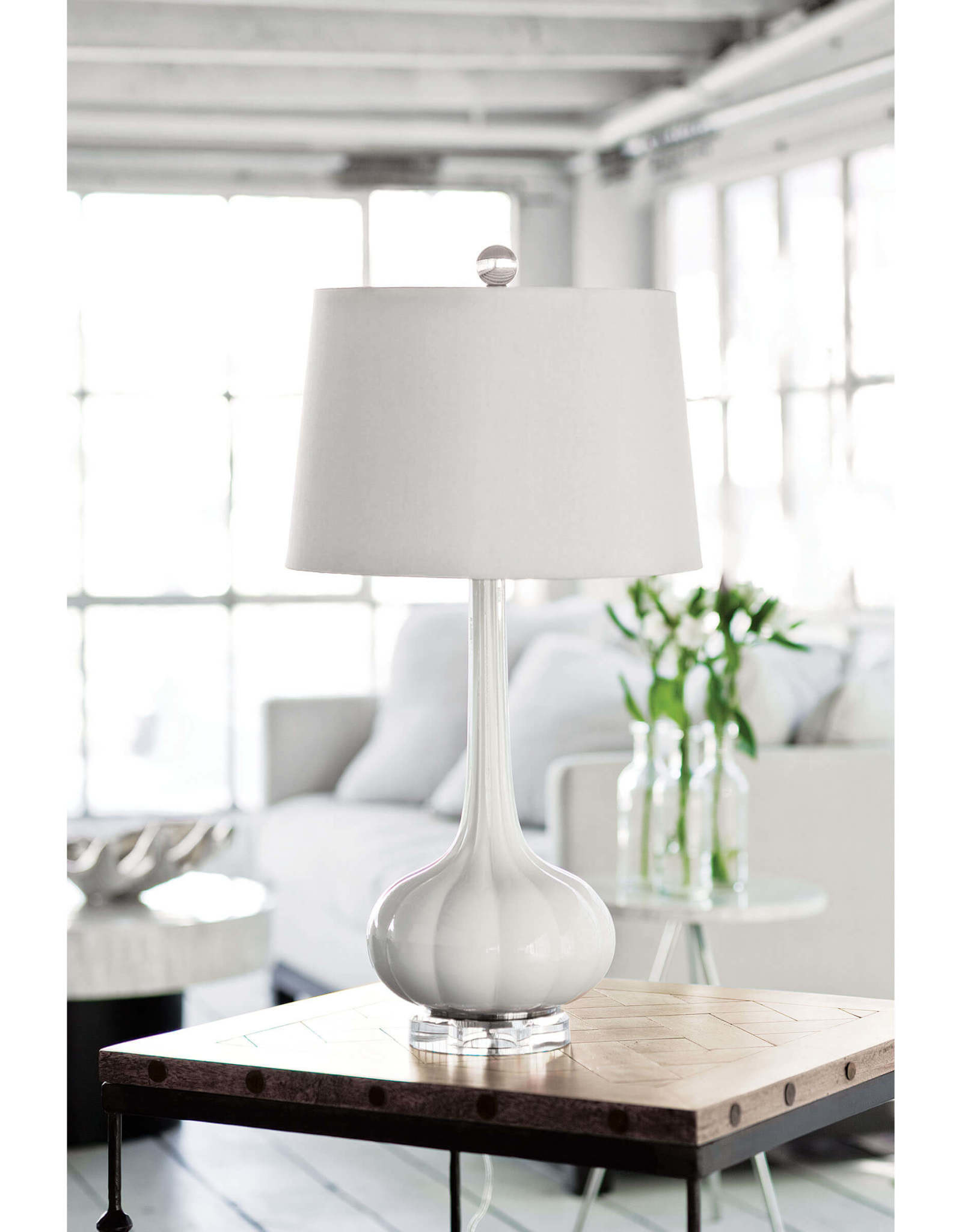Regina Andrew Design Milano Table Lamp (Snow White)