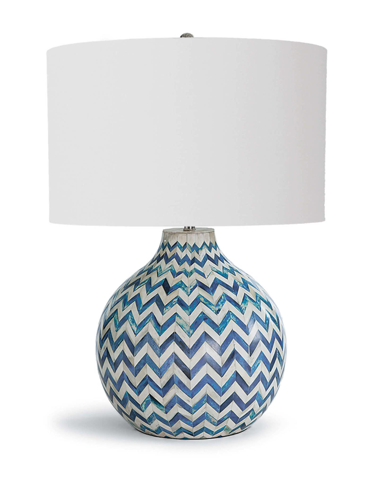 Regina Andrew Design Chevron Bone Table Lamp (Indigo)