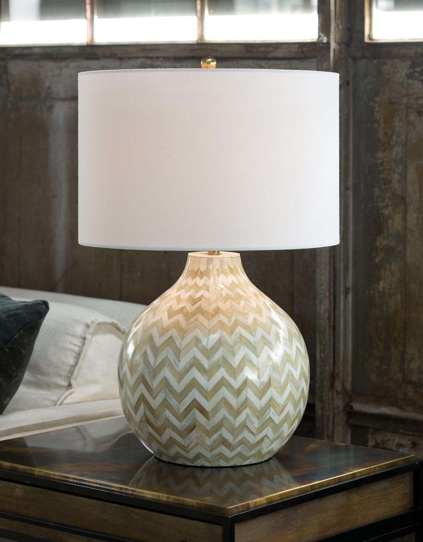 Regina Andrew Design Chevron Bone Table Lamp (Multi-Colored)