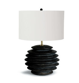 Regina Andrew Design Accordion Table Lamp Round (Ebony)