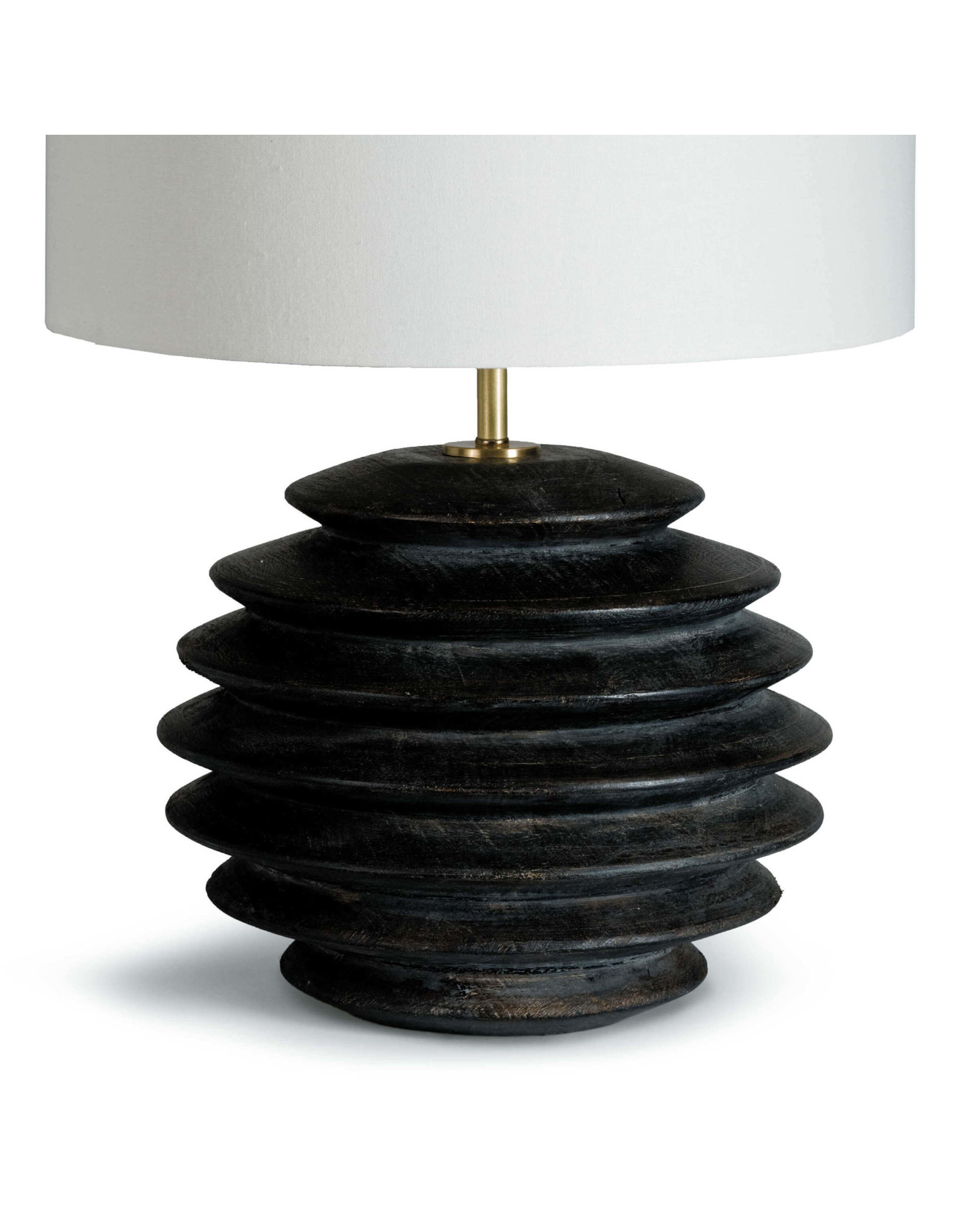 Accordion Table Lamp Round (Ebony)