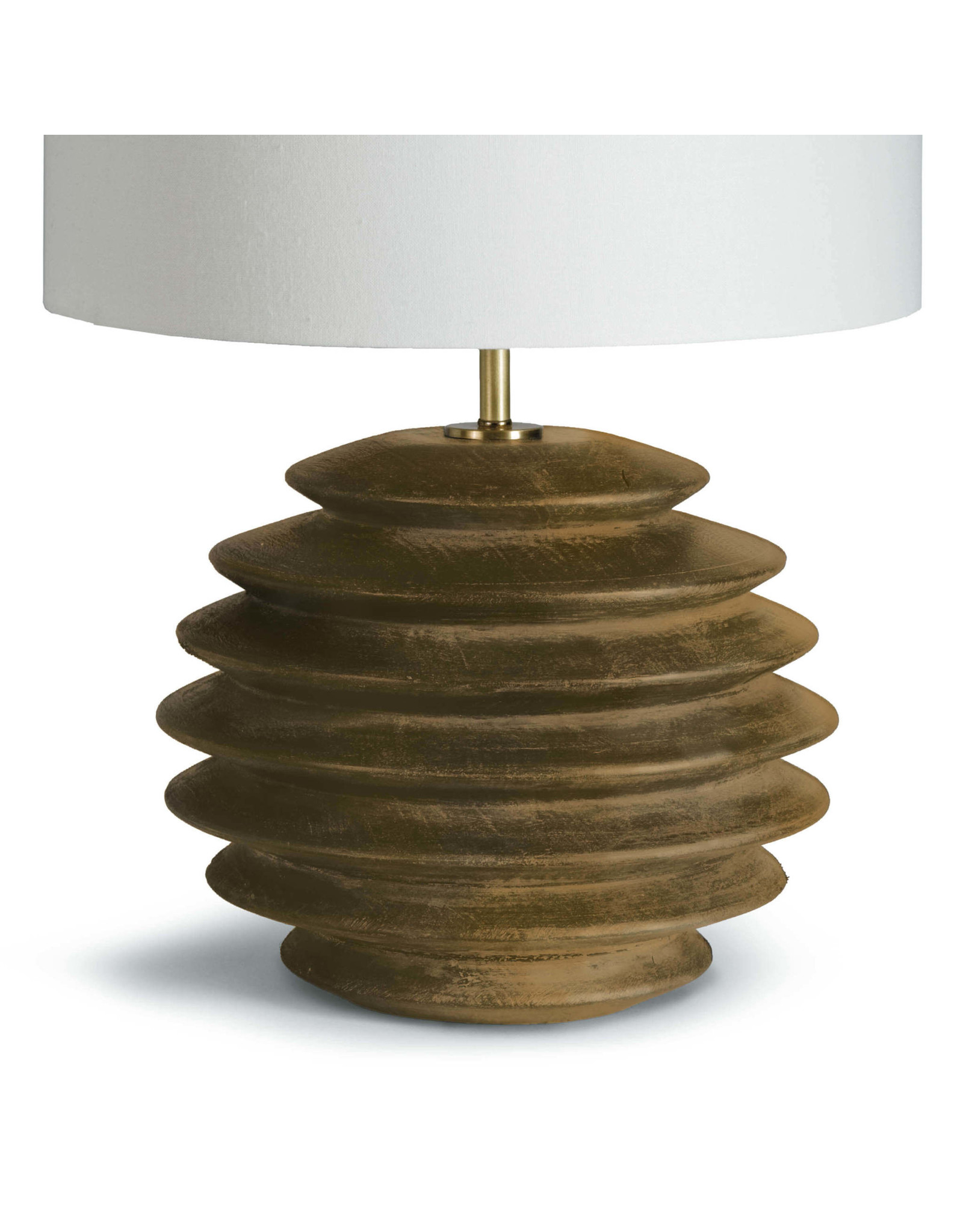 Accordion Table Lamp Round (Natural)