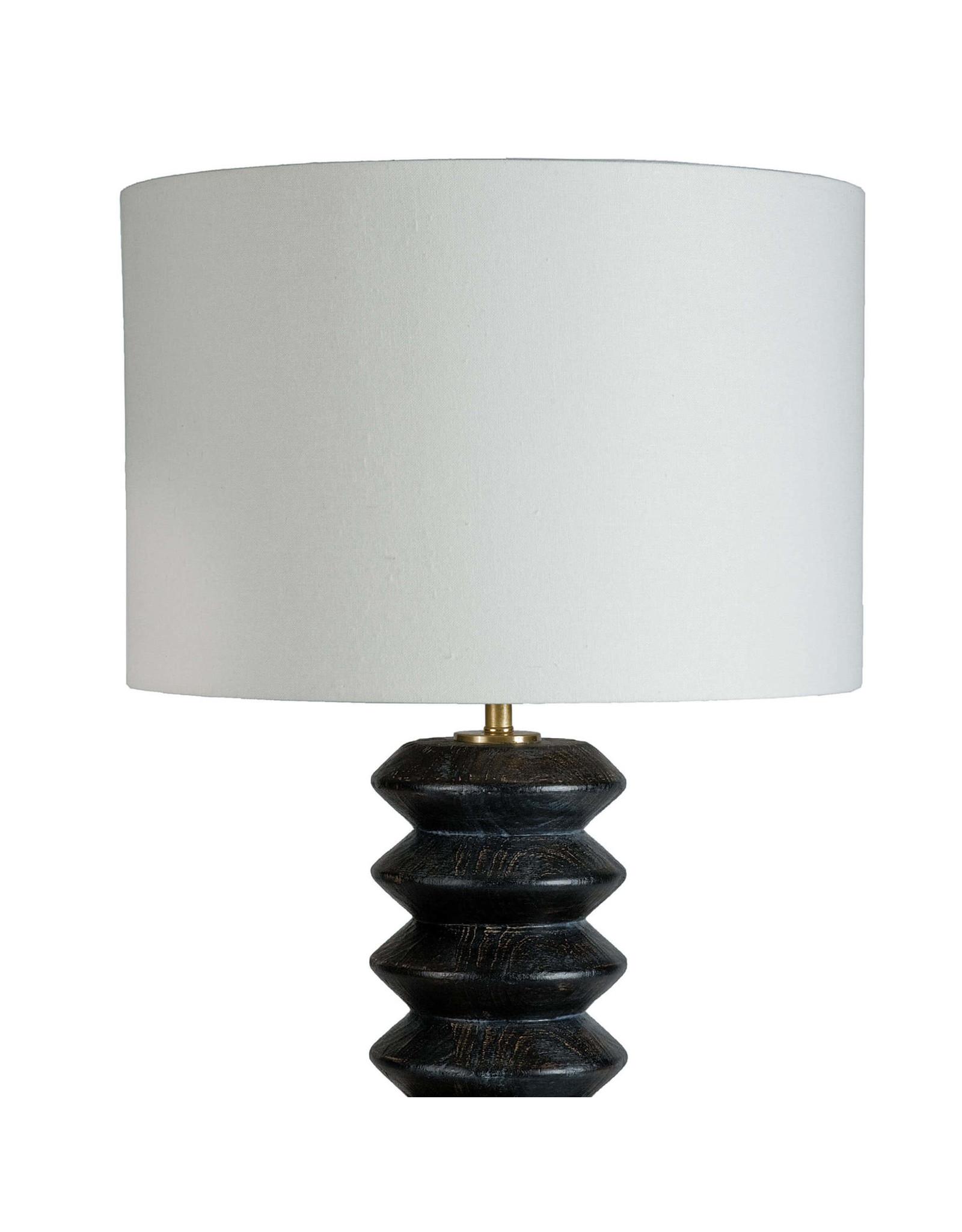 Accordion Table Lamp (Ebony)