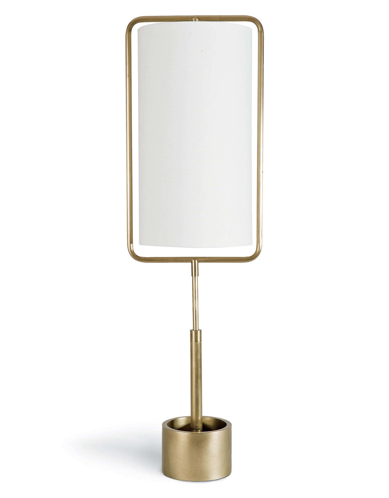 Regina Andrew Design Geo Rectangle Table Lamp (Natural Brass)