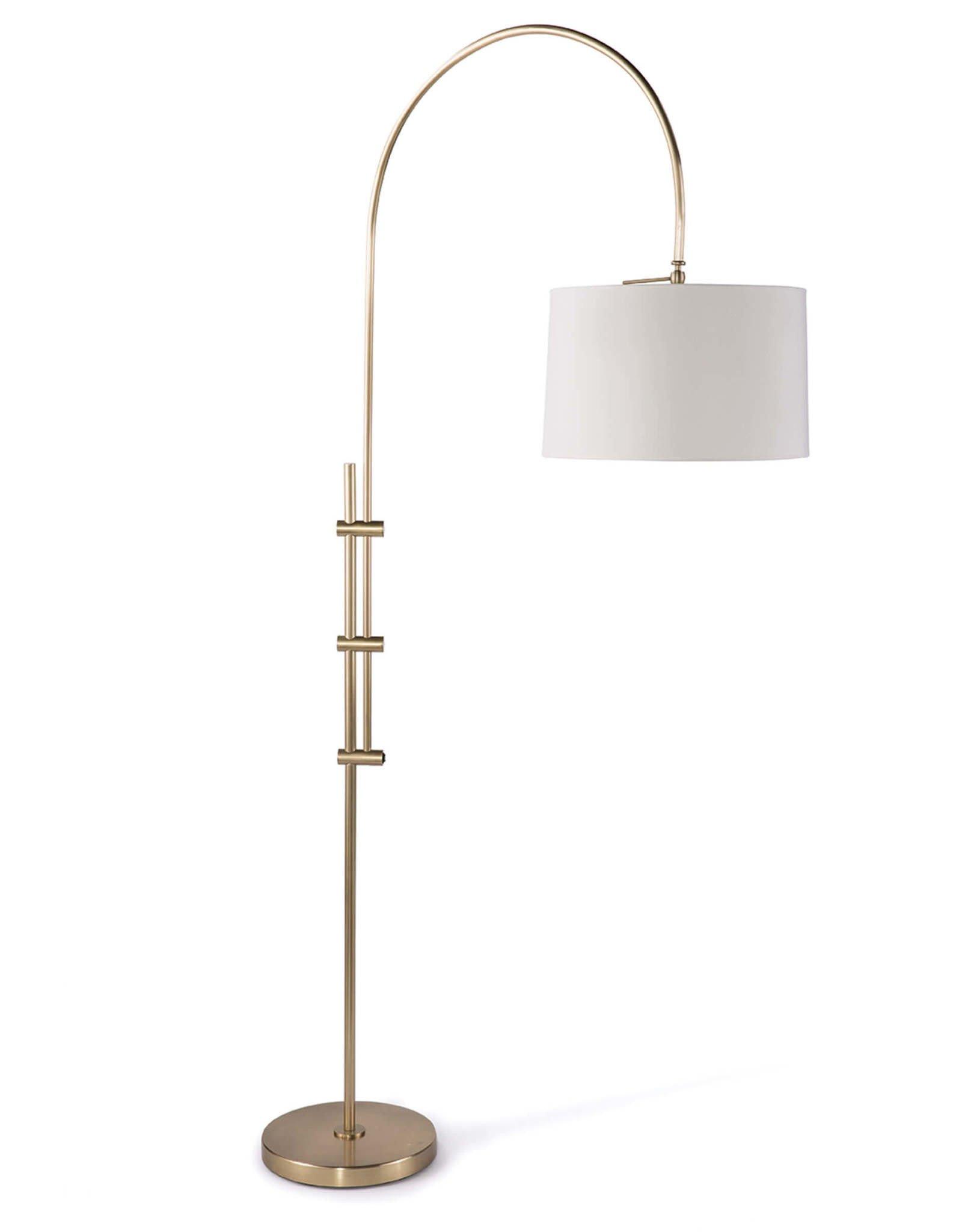Regina Andrew Design Arc Floor Lamp With Fabric Shade (Natural Brass)