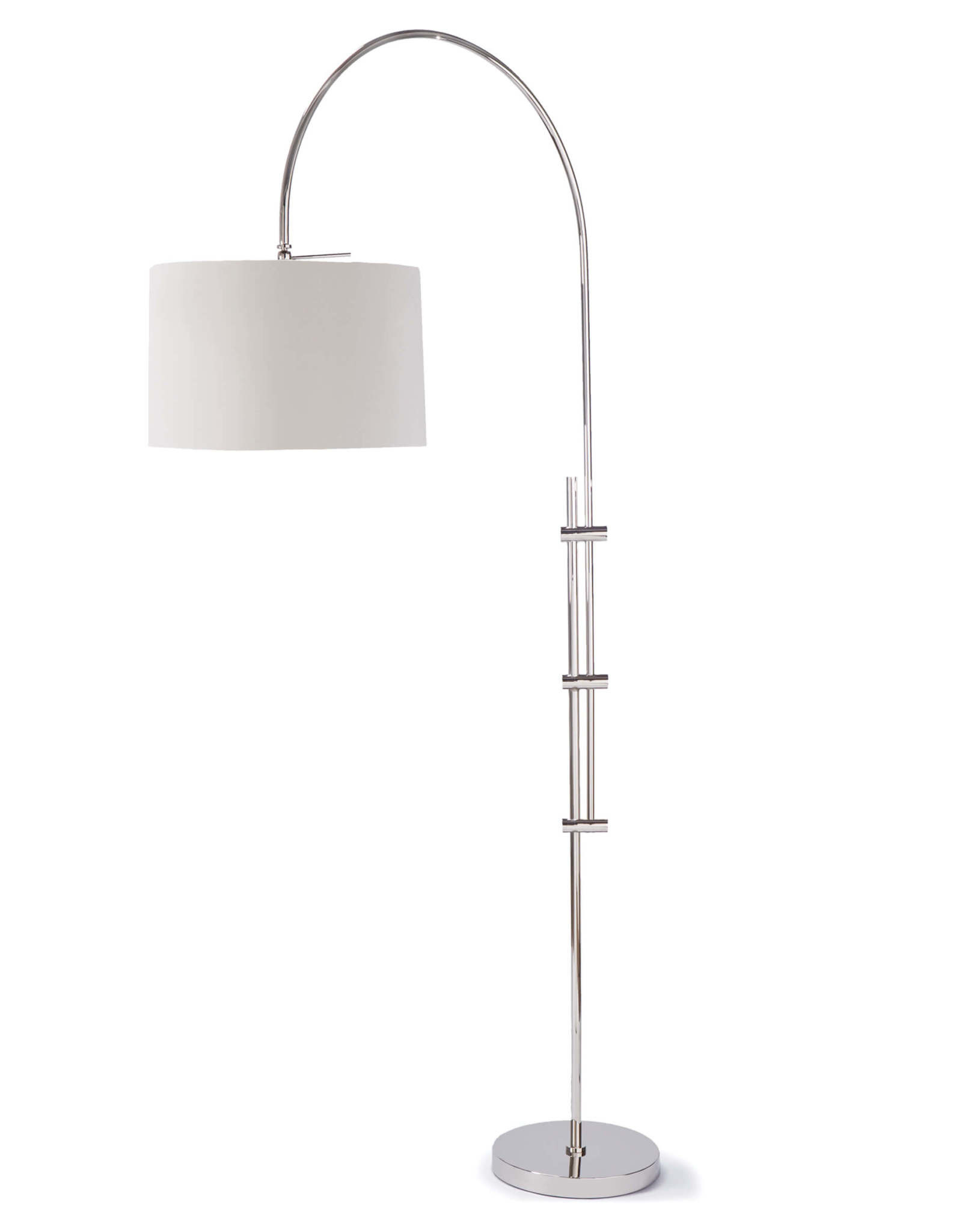 Regina Andrew Design Arc Floor Lamp With Fabric Shade (Polished Nickel)
