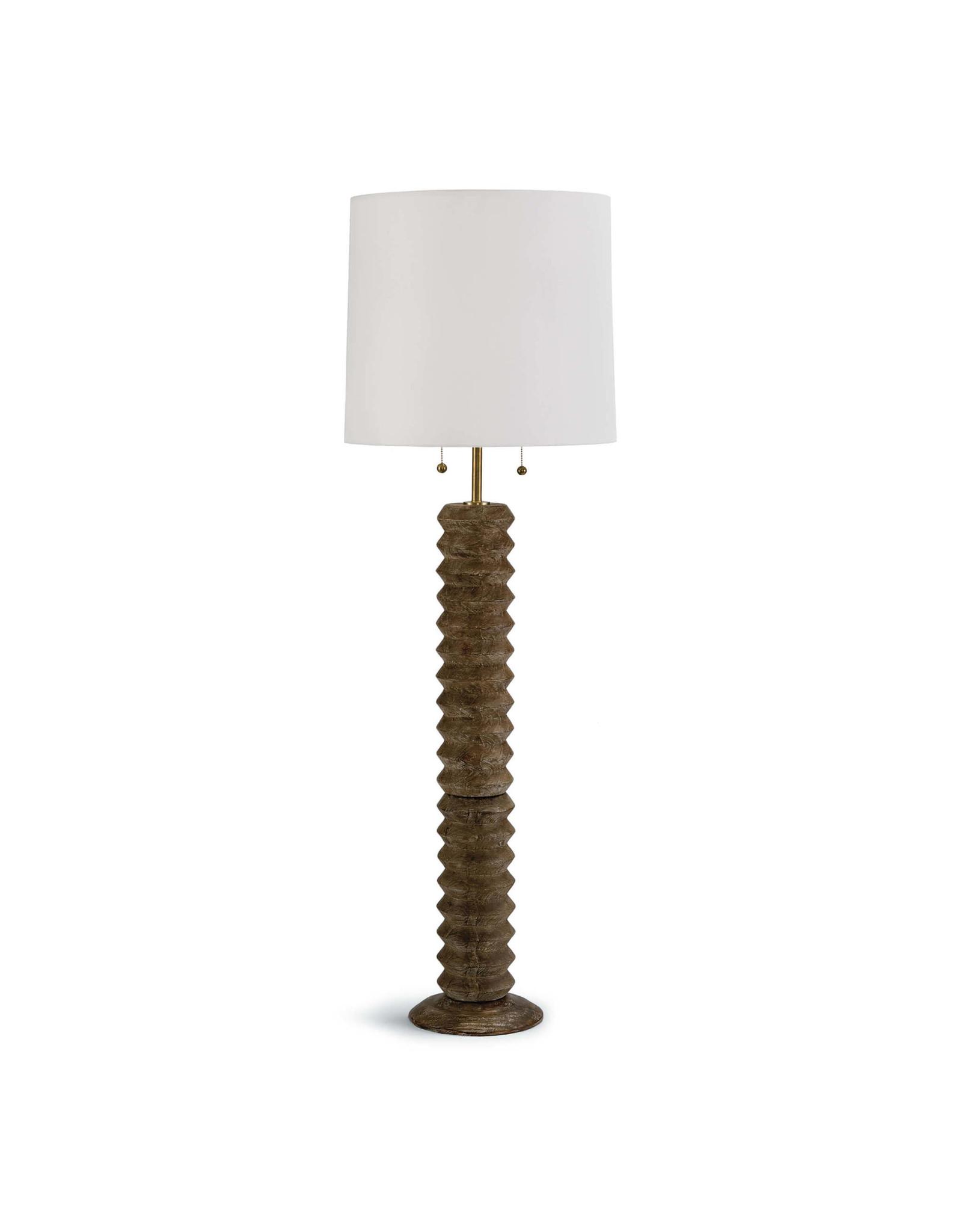 Accordion Floor Lamp (Natural)