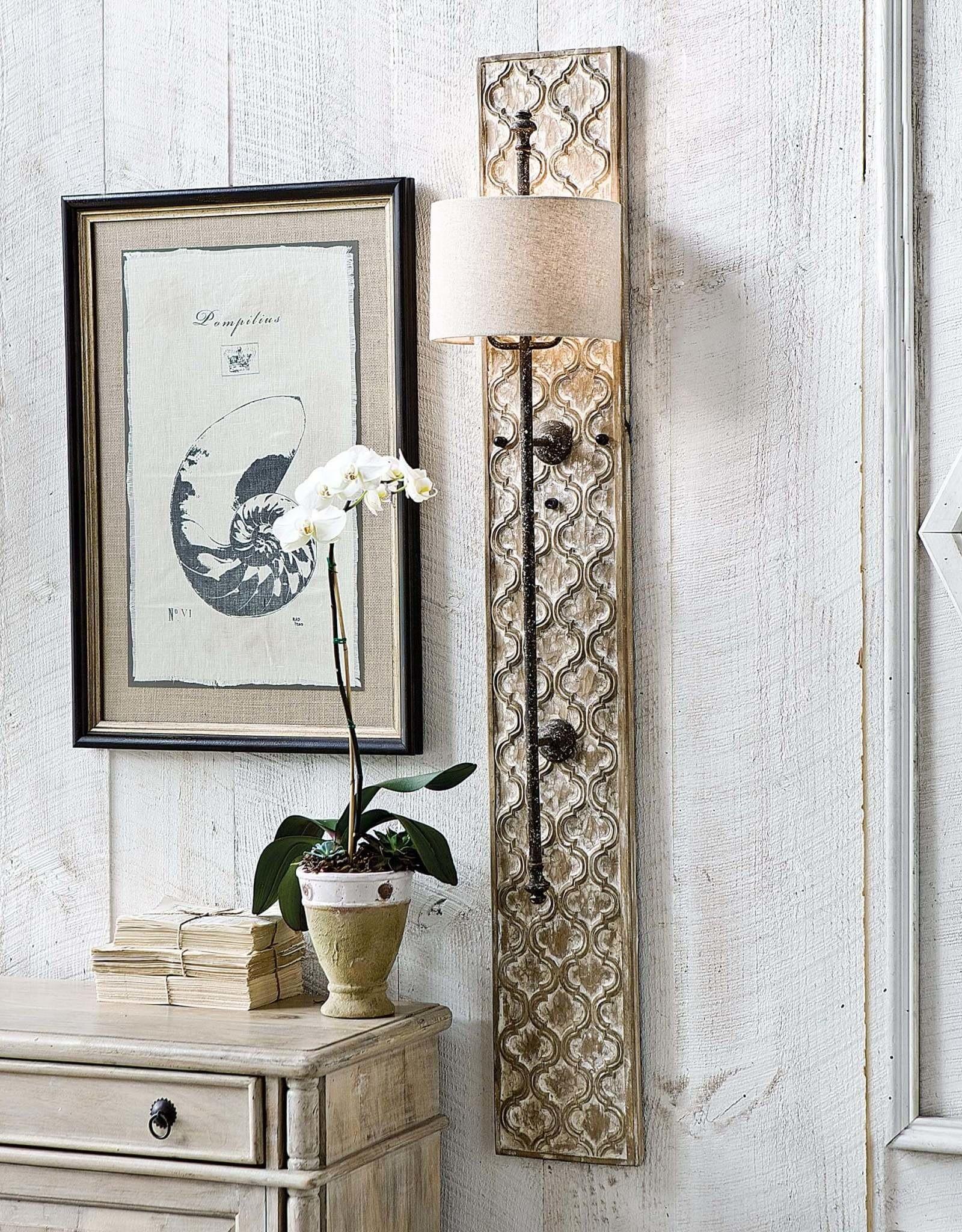 Regina Andrew Design Carved Panel Sconce