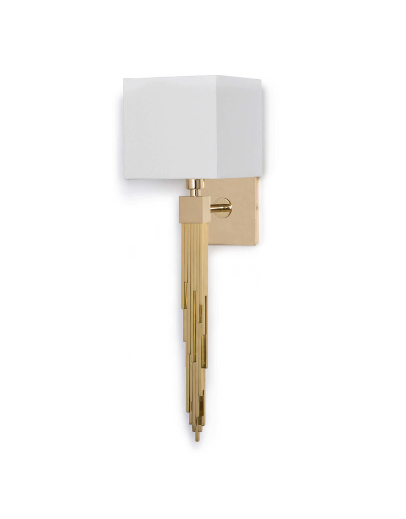 Regina Andrew Design Tower Sconce (Polished Brass)