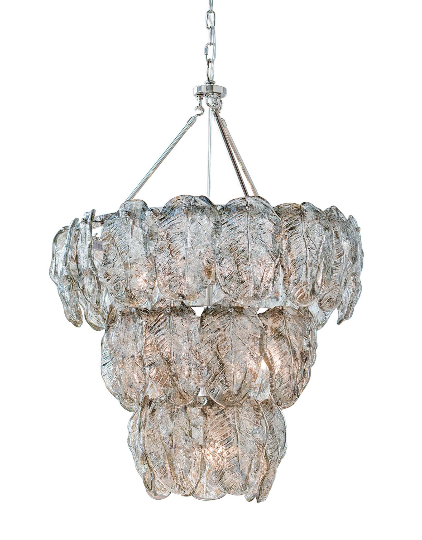 Regina Andrew Design Glass Leaves Chandelier (Silver)