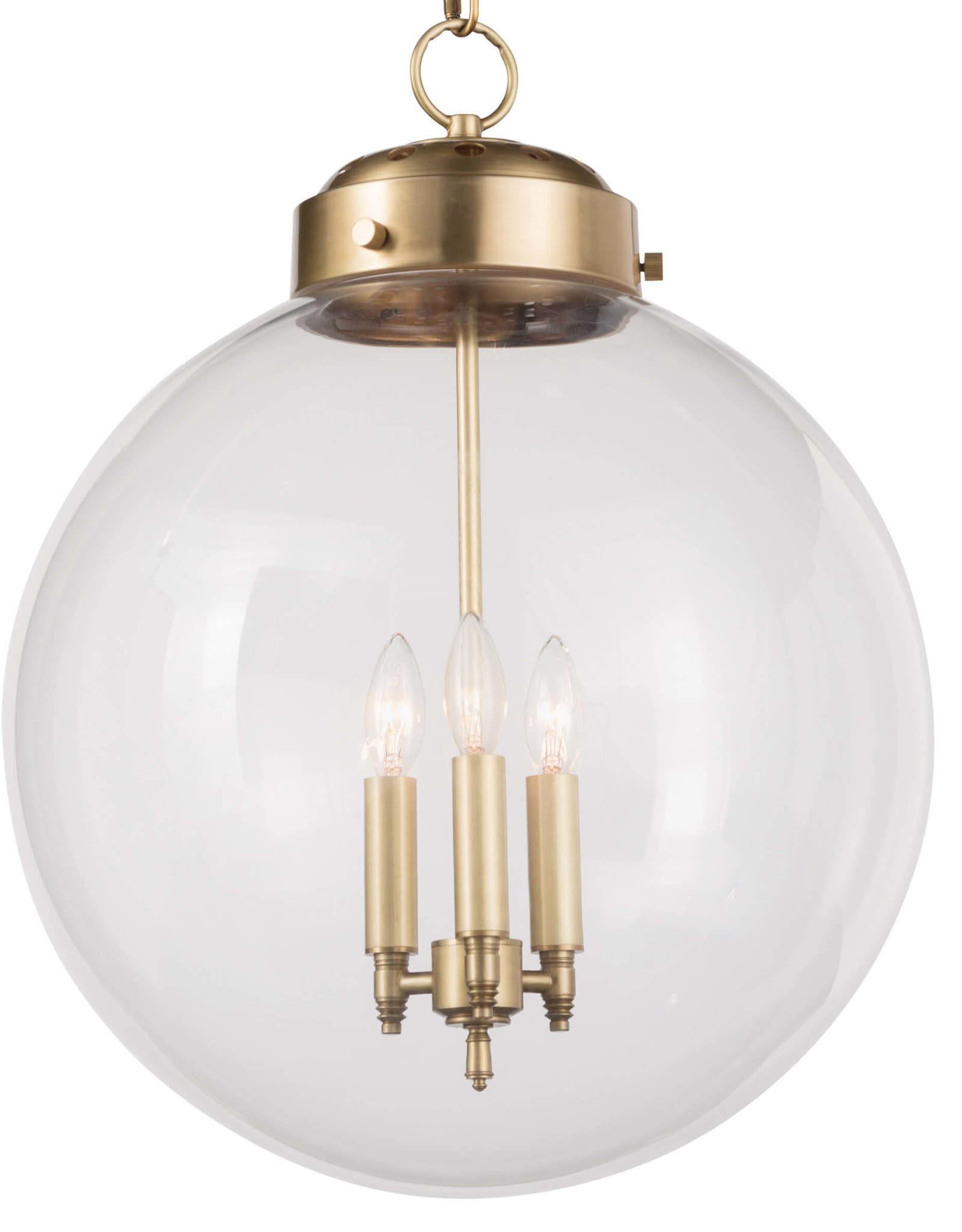 Regina Andrew Design Globe Pendant (Natural Brass)