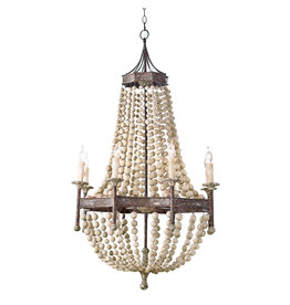 Regina Andrew Design Wood Beaded Chandelier