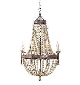 Regina Andrew Design Wood Beaded Chandelier
