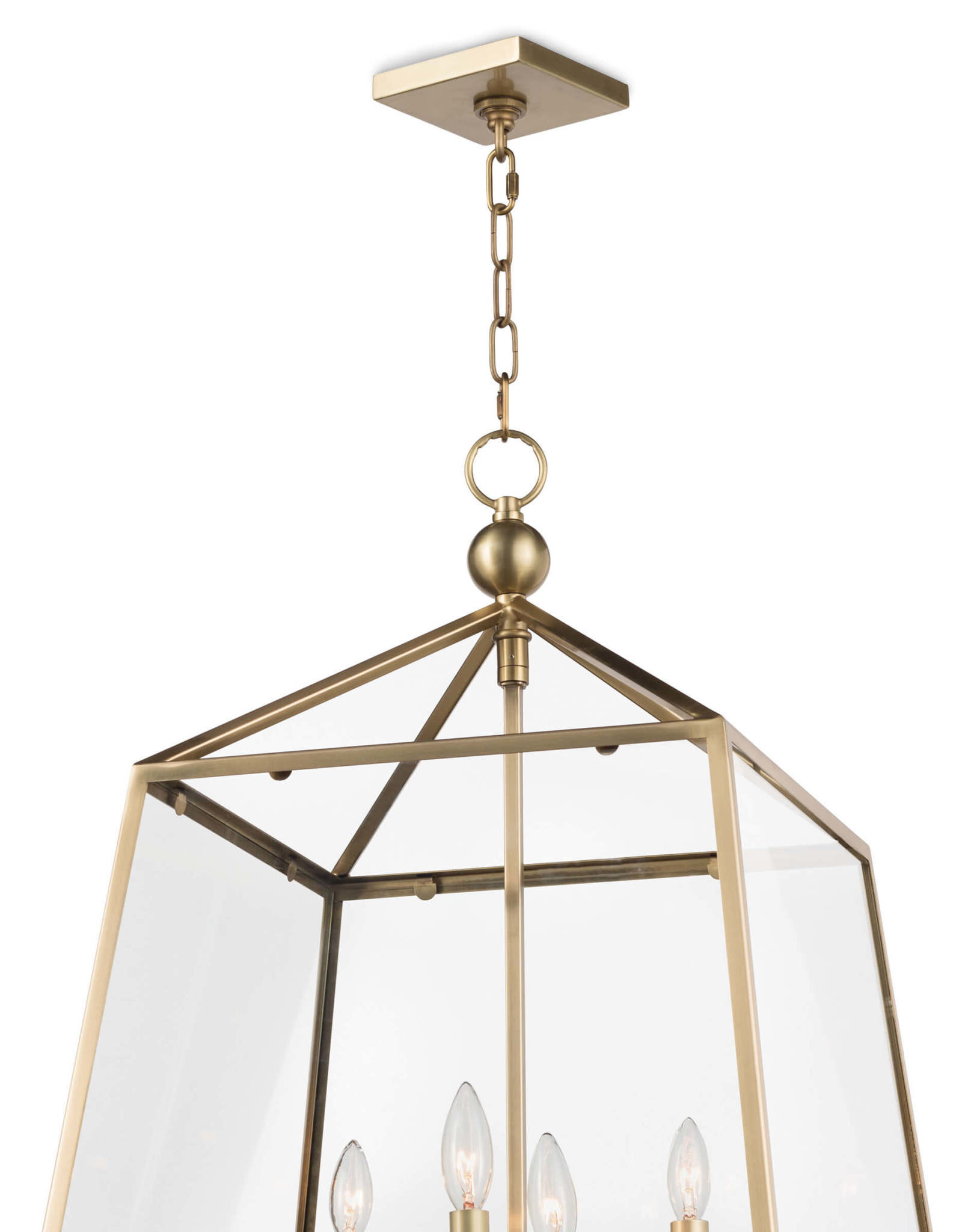 Regina Andrew Design Cachet Lantern (Natural Brass)