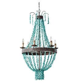 Regina Andrew Design Beaded Turquoise Chandelier