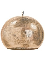 Regina Andrew Design Pierced Metal Sphere Pendant (Natural Brass)