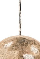 Regina Andrew Design Pierced Metal Sphere Pendant (Natural Brass)