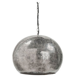 Regina Andrew Design Pierced Metal Sphere Pendant (Polished Nickel)