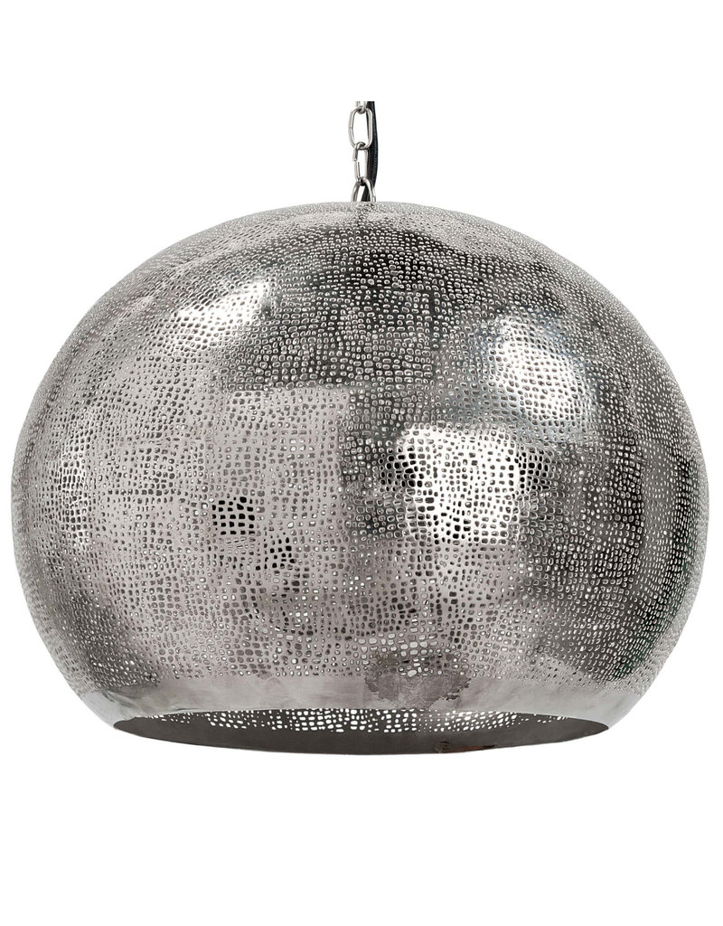 Regina Andrew Design Pierced Metal Sphere Pendant (Polished Nickel)