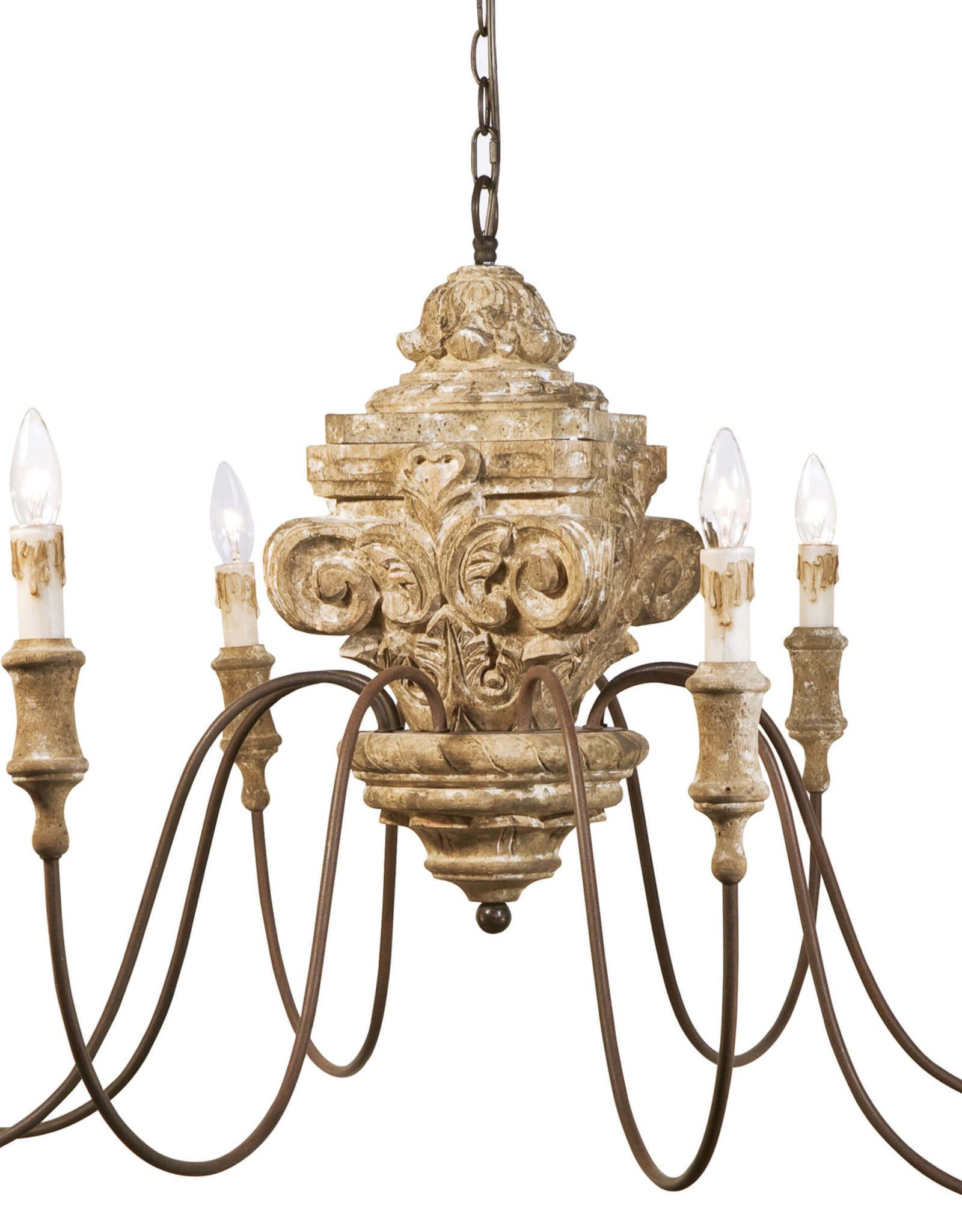 Regina Andrew Design Wood Carved Chandelier